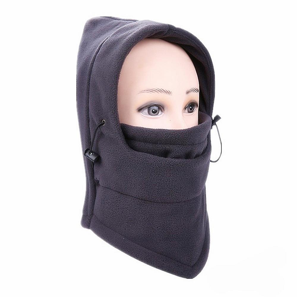 TRIXES Unisex Half Face Fleece Balaclava Hood – Grey