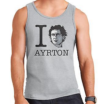 Ik hart Ayrton Senna mannen Vest