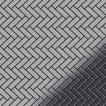 Fém mozaik rozsdamentes acélötvözet halszálkás-S-S-M