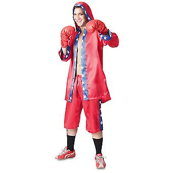 Champion boxer costume jacket pants gloves Boxer costume men
