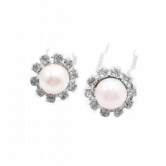 Hvite perler hår Pin brude Hårtilbehør bryllup hårnåler bare