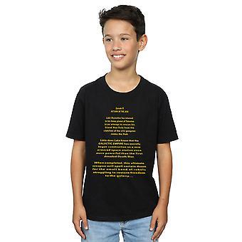 Star Wars Boys Return Of The Jedi Opening Crawl T-Shirt