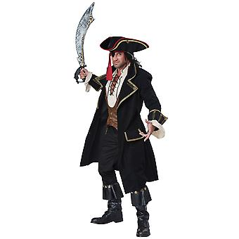 Deluxe Pirate Captain Hook Cutthroat Jack Sparrow Carribbean Mens strój