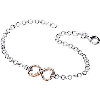 Bella Infinity Centre Bracelet - Silver/Rose Gold