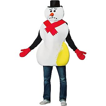 Yellow Snowman Adult Costume