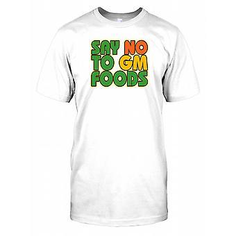 Zeg nee tegen genetisch Gemodificeerd voedsel - samenzwering Mens T Shirt