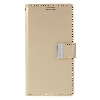 Mercury GOOSPERY rikas päivä kirja Samsung Galaxy S10e-kulta