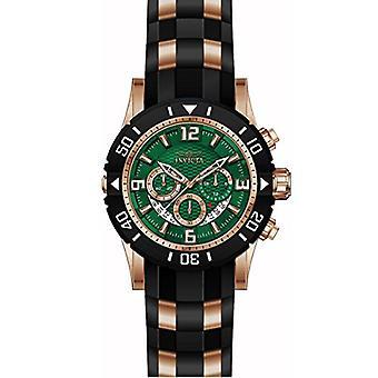 Invicta Pro Diver 23712 polyuréthane, montre chronographe en acier inoxydable