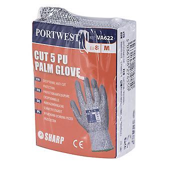 sUw - Mens Vending LR schneiden Level 5 PU Palm Handschuhe