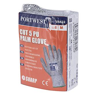 Portwest - 1 pereche Pack Cut 3 Rezista PU Palm Hand Protection Manusa