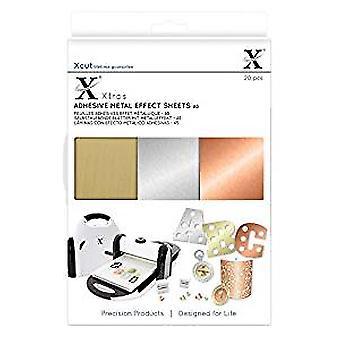 Xcut Xtra A5 zelfklevende metalen Effect bladen (20st) (XCU 174409)