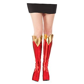 Supergirl Superwoman DC Comics Superhero Women Costume Boot Tops Covers