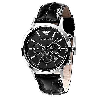 Armani Ar2447 - Mens Chronograph Leather Strap Watch