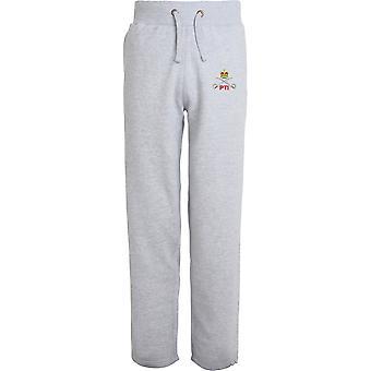 Royal Army Physical Training Corps PTI - lizenzierte britische Armee bestickt offenen Hem Sweatpants / Jogging Bottoms
