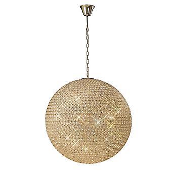 Diyas AVA hanger 12 licht Frans goud/kristal