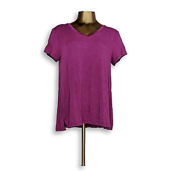 H by Halston naiset ' s Top Essentials V-kaula tee violetti A306231