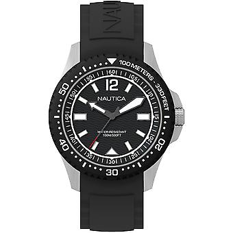 Nautica mau Japanese Quartz Analog Man Watch with NAPMAU001 Silicone Bracelet
