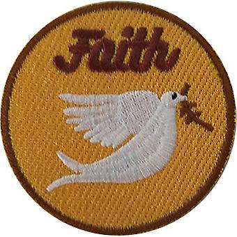 Patch - Inspirational - Faith With Dove Icon-On p-dsx-4857