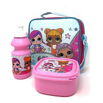 L.O.L. SURPRISE LOL 3 Sac de poupées avec boîte à lunch et bouteille d'eau