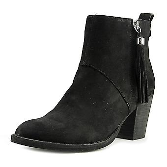 STEVEN by Steve Madden Womens Beti Leather Almond Toe Ankle Fashion Boots