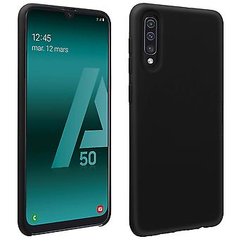 Samsung Galaxy A50 silikone semi-stiv sag, soft touch mat finish-sort