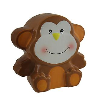 Adorabile marrone ceramica Monkey Kids Money Bank