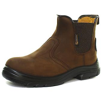 Grafters M9509B Mens Super Wide Extra Fit Safety Dealer Boots