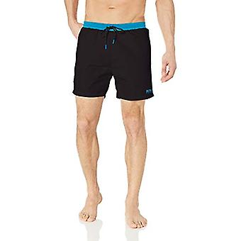 Hugo Boss BOSS Men's Medium Length Solid Swim Trunk, Black, S, Black, Size Small