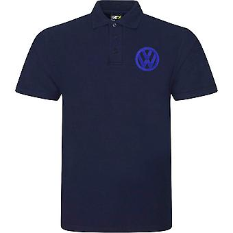 VW Motor Car Motoring - Logo - Blau Weiß - Polo Shirt