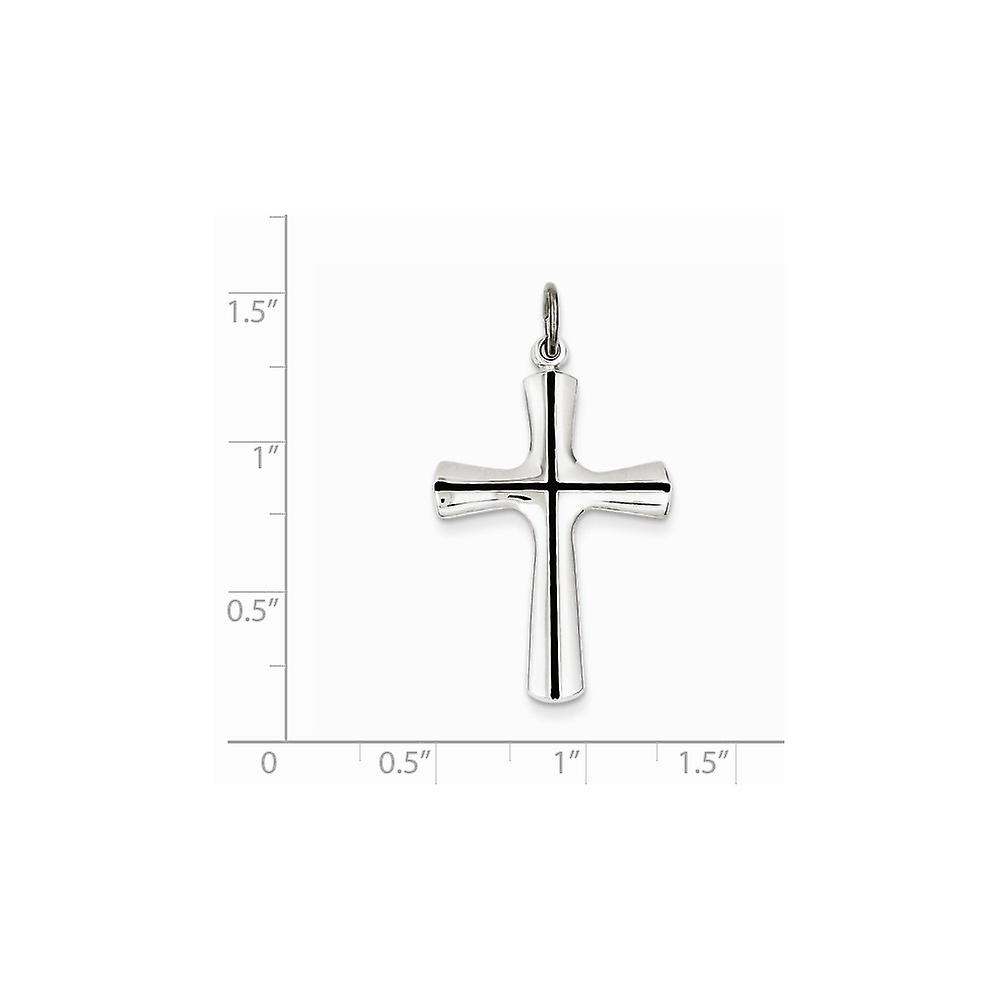 925 Sterling Silver Solid Polished back Enamel Religious Faith Cross Pendant Necklace Jewelry Gifts for Women