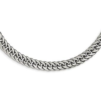 RVS gepolijst dubbele Curb Chain ketting - 24 Inch