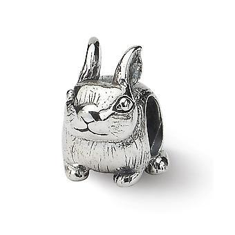 925 sterling sølv antikke finish refleksioner bunny perle charme