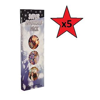 Super Sparkler Pack - 5 Packs Supplied 200 Sparklers
