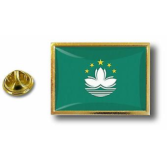 Pins Pin Badge Pin's Metal  Avec Pince Papillon Drapeau Macao Macau
