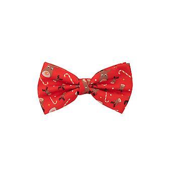 Dobell Mens Rudolph Red Christmas Bow Tie Pre-Tied