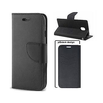 Samsung Galaxy A5 (2015) älykäs fancy lompakko kotelo-musta