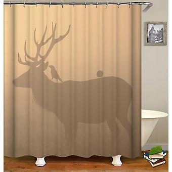 Deer Shadow Shower Curtain