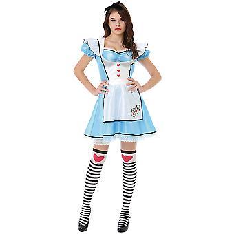 Vidunderlige Alice kostume, L