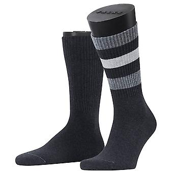 Esprit Colour Block Rib 2-Pack Socken - Anthrazcite Melange