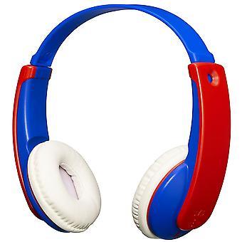 JVC TinyPhones Kids Wireless Bluetooth Headphones with Volume Limiter Blue/Red