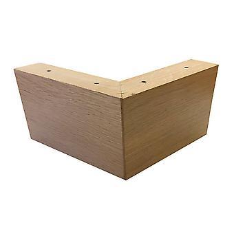 Eiche Holz Eckbein 10 cm
