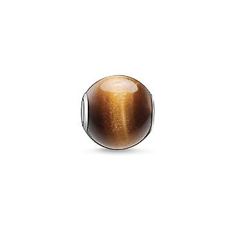Thomas Sabo Karma Beads Silver Brown Tiger's-eye Stone K0045