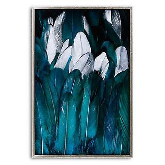 Hill Interiors Feder Glas Bild In Silber Rahmen