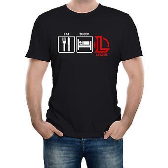 Reality glitch spise, sove, liga herre t-shirt