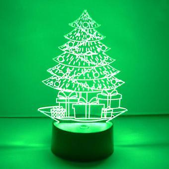 Weihnachtsbaum und Geschenke LED Farbwechsel Acryl Licht
