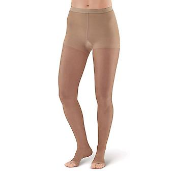 Pebble UK Sheer Open Toe Compression Tights [Style P33OT] Nude  Q Plus