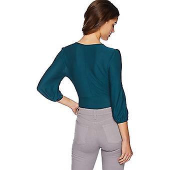 BB Dakota Women's Let It Happen Knit Bodysuit, Evergreen, Large