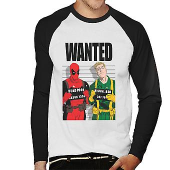 Marvel Deadpool Bob Hydra Wanted Men's Baseball Long Sleeved T-Shirt