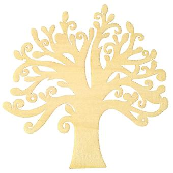 Wooden Embellishments Engraved Laser Cut Family Tree , Hollow Design
