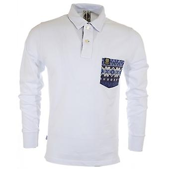 Franklin & Marshall Full Sleeve Piquet Slim Fit witte Polo